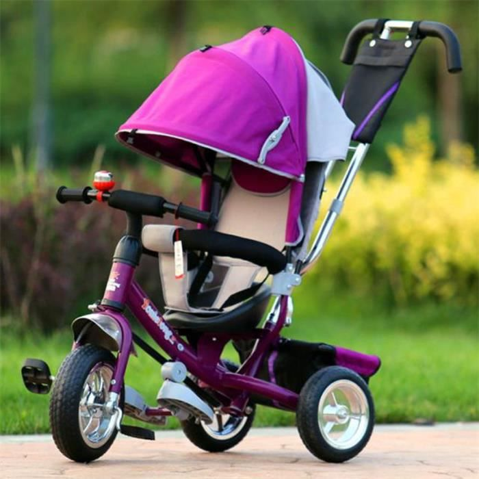 violet 6 mois 4 ans chariot b b tricycle enfant poussette b b chariot v lo v lo prix pas. Black Bedroom Furniture Sets. Home Design Ideas
