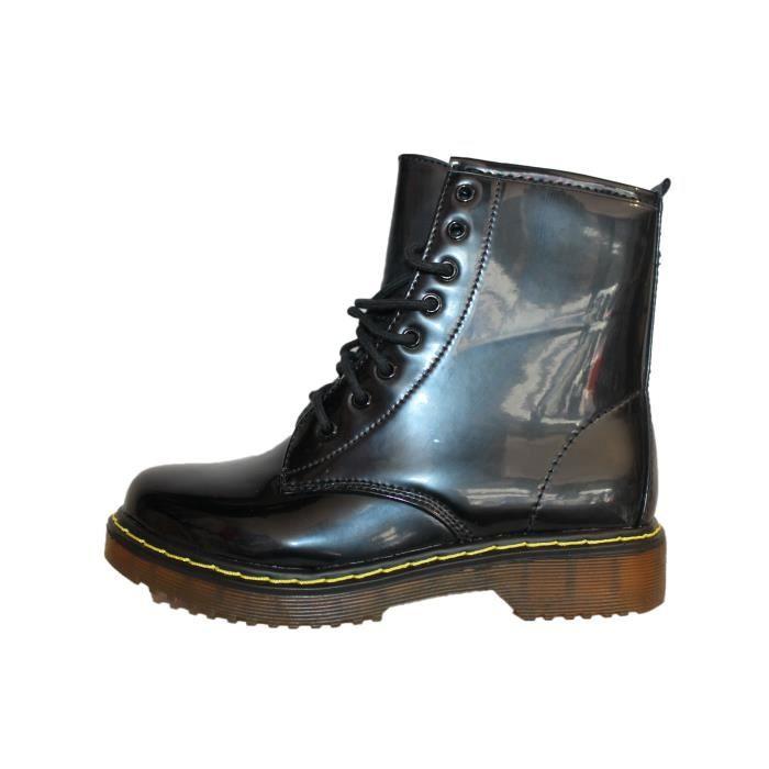 boots doc noire brillante noir noire achat vente bottine cdiscount. Black Bedroom Furniture Sets. Home Design Ideas