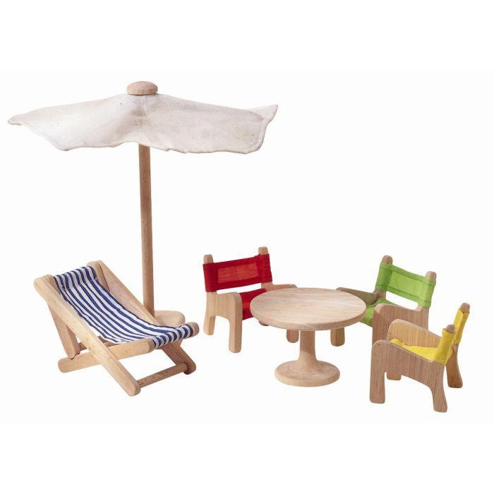 Plantoys jouets en bois meubles de jardin achat for Plan table de jardin en bois