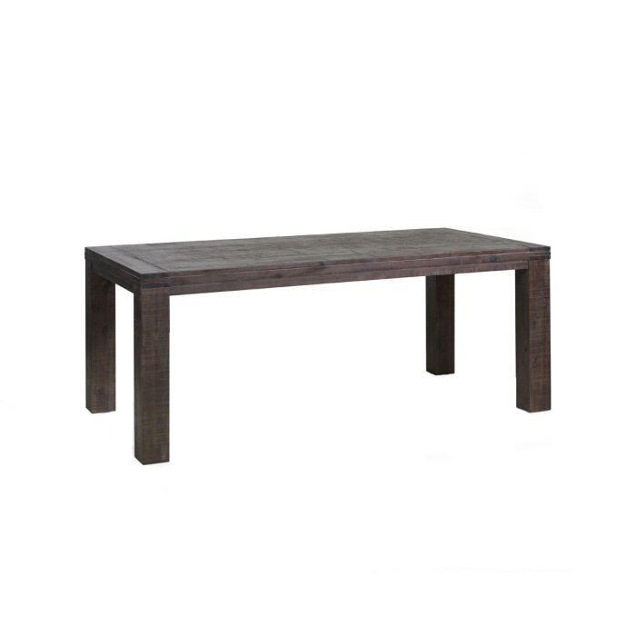 Table de salle manger en acacia massif couleu achat vente table mang - Table en acacia massif ...