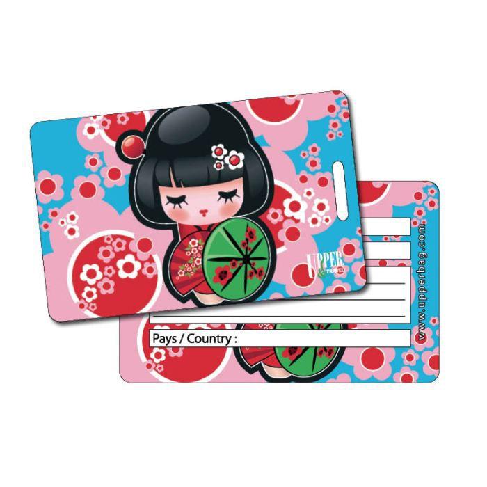 Etiquette bagage manga 1 achat vente porte adresse for 1 porte etiquette de voyage