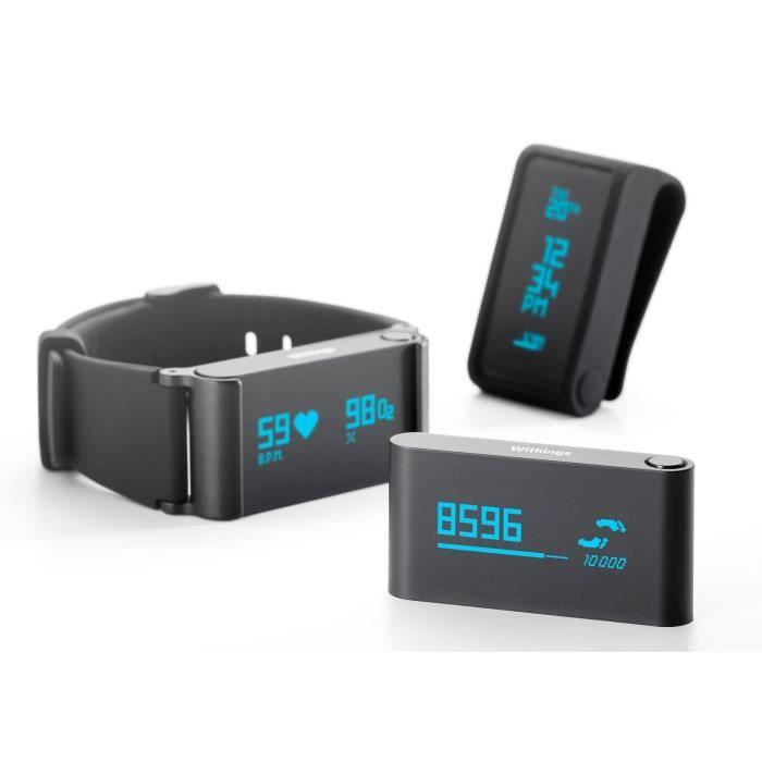 withings pulse ox montre connect e avec mesure d activit et du rythme cardiaque noir. Black Bedroom Furniture Sets. Home Design Ideas