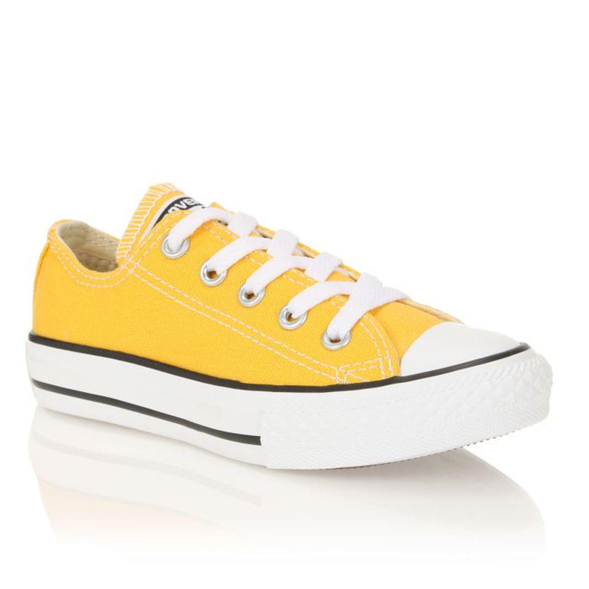 e9f7f84ac87df jaune baskets bébé converse - Akileos