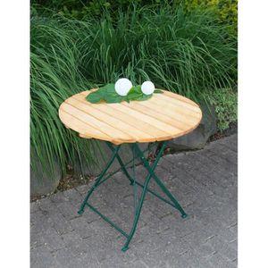 Table De Jardin En Bois Ronde Achat Vente Pas Cher Les Soldes Sur Cdiscount Cdiscount