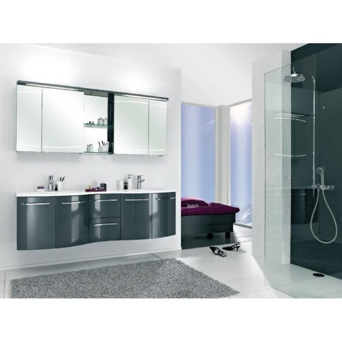 Meuble suspendu salle de bain primadonna anthracite satinanthracite brillant - Salle de bain discount allemagne ...
