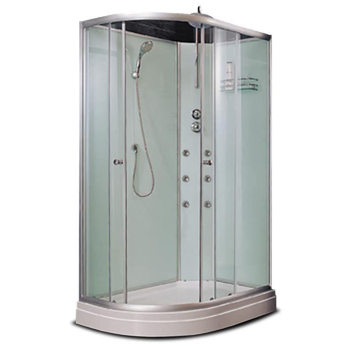 Cabine douche verre porte gauche 120x80x210cm achat vente cabine de dou - Cdiscount cabine de douche ...