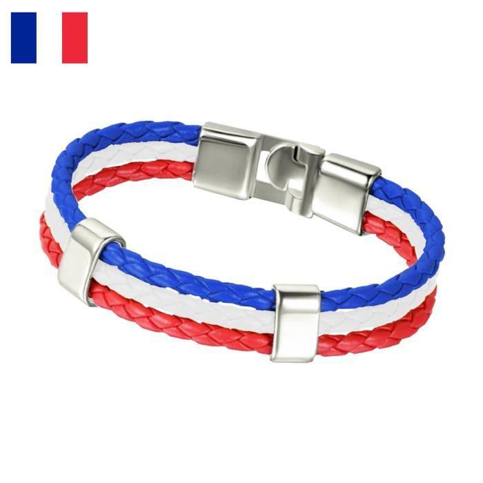 france bracelet euro foot 2016 drapeau achat vente bracelet gourmette france bracelet euro. Black Bedroom Furniture Sets. Home Design Ideas