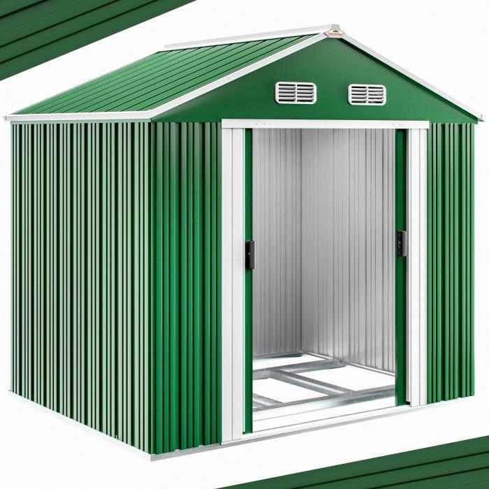 abri de jardin en m tal 5 m cabane de jardin rangement v los outils achat vente abri. Black Bedroom Furniture Sets. Home Design Ideas