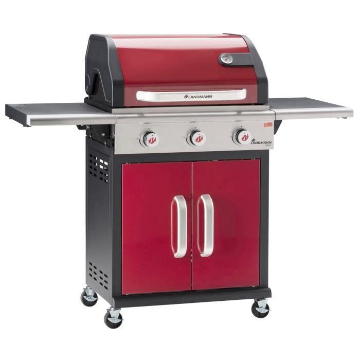 Landmann barbecue gaz triton 140x57x121 5cm rouge achat vente barbecu - Barbecue gaz landmann ...