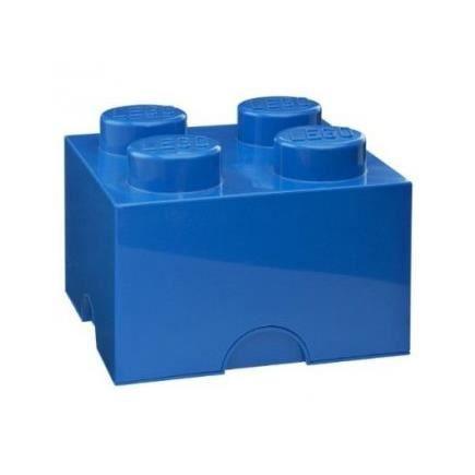 Brique de rangement lego 4 plots bleu achat vente - Caisse de rangement lego ...