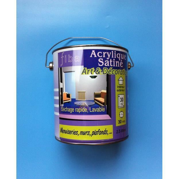 peinture satin acrylique fibaline 0 5 l achat vente peinture vernis peinture satin. Black Bedroom Furniture Sets. Home Design Ideas