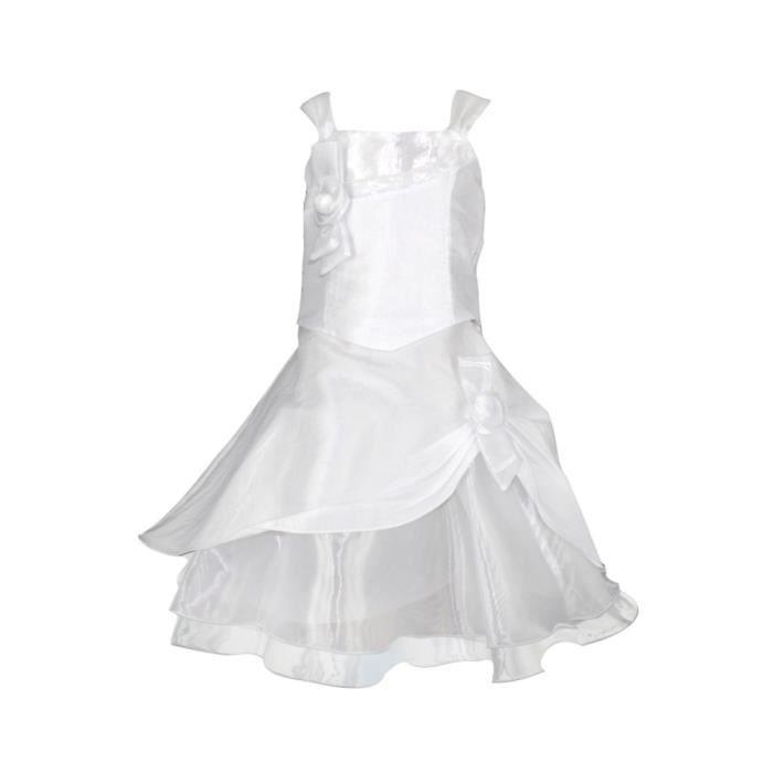 Robe fille ivoire et couleur am blanc blanc achat vente robe de c r mon - Couleur blanc ivoire ...
