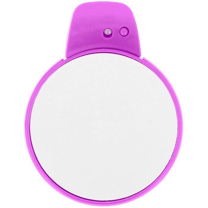 Miroir ventouse lumineux led double face grossissante for Dormir face a un miroir