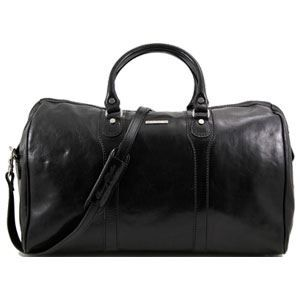 tuscany leather sac de voyage en cuir noir noir achat vente sac de voyage. Black Bedroom Furniture Sets. Home Design Ideas