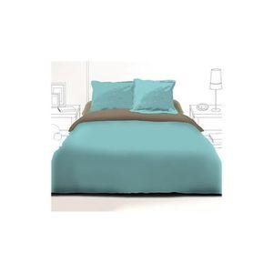 housse de couette tarantino 140 x 200 cm bleu achat vente housse de couette cdiscount. Black Bedroom Furniture Sets. Home Design Ideas