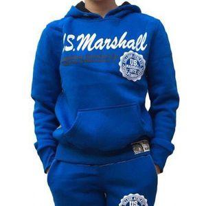 SURVÊTEMENT DE SPORT Sweat Enfant US MARSHALL bleu