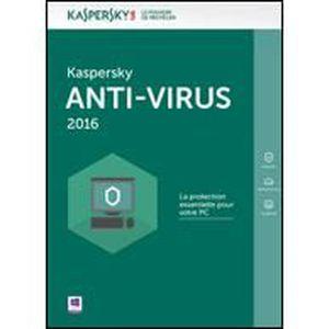 LOGICIEL À TÉLÉCHARGER Kaspersky Anti-Virus 2016 - 3 Postes - 2 ans