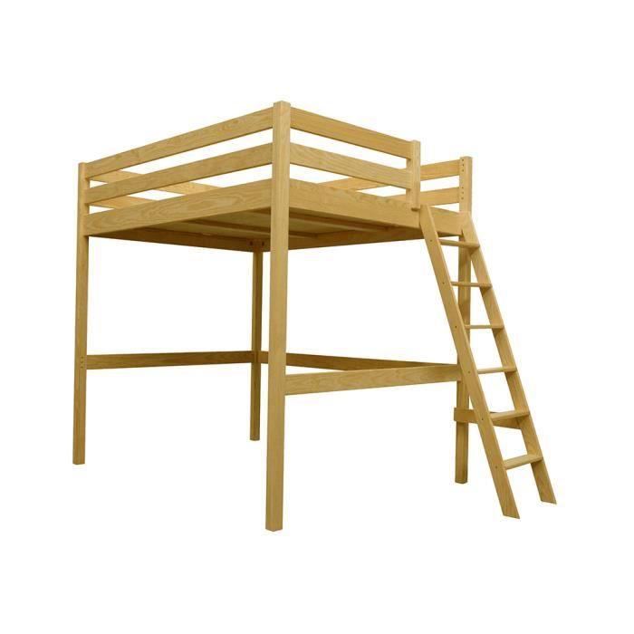 lit mezzanine sylvia 120 200 avec chelle achat vente lit mezzanine soldes d t cdiscount. Black Bedroom Furniture Sets. Home Design Ideas