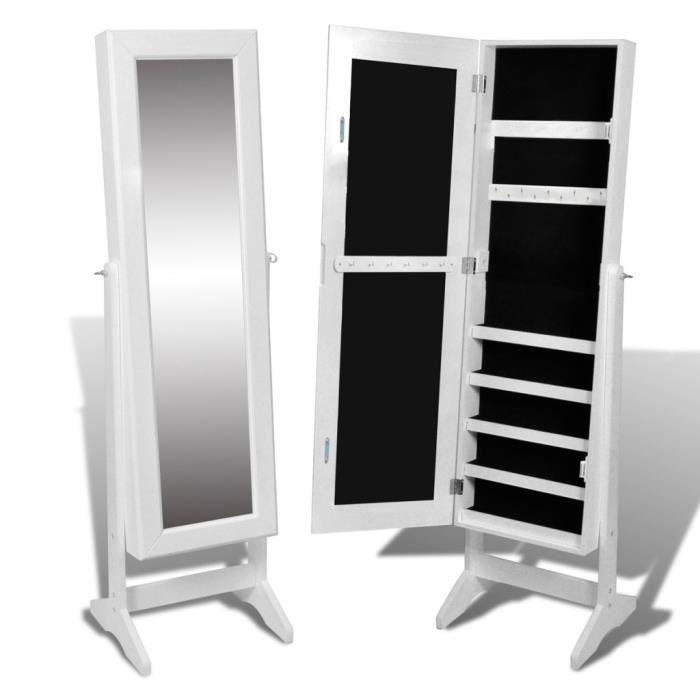 Magnifique armoire a bijoux rangement miroir meuble - Meuble rangement bijoux miroir ...