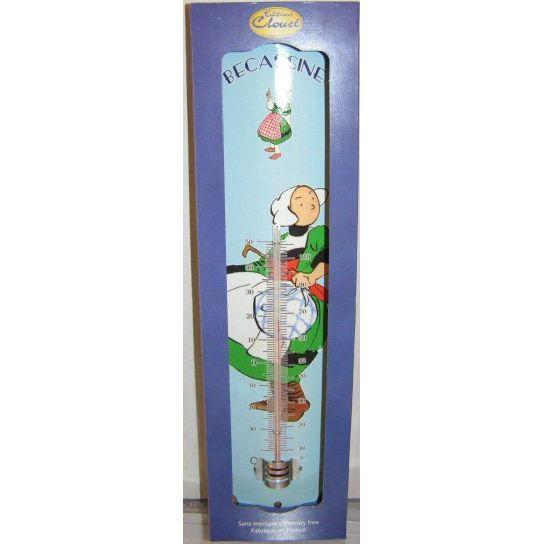 Thermometre deco becassine et son balochon achat vente - Thermometre exterieur decoratif ...