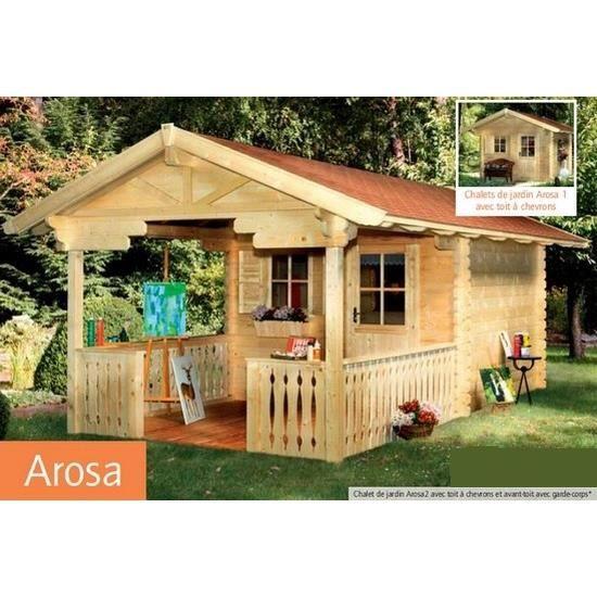 Chalet de jardin en bois 300 x 250 cm m arosa for Petit chalet en bois de jardin