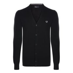 GILET - CARDIGAN Fred Perry Cardigan Homme Noir