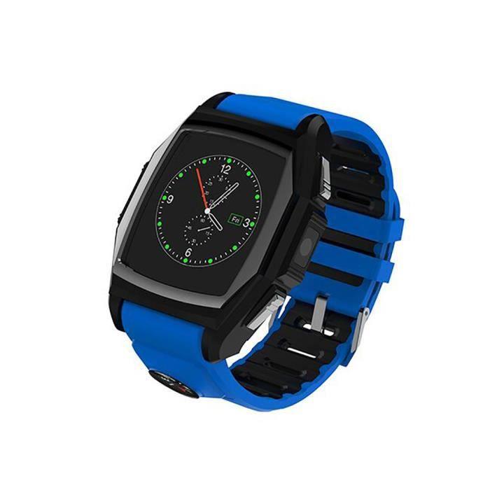 diggro gt68 bluetooth smart montre sport t l phone montre fr quence cardiaque sos gps bleu. Black Bedroom Furniture Sets. Home Design Ideas