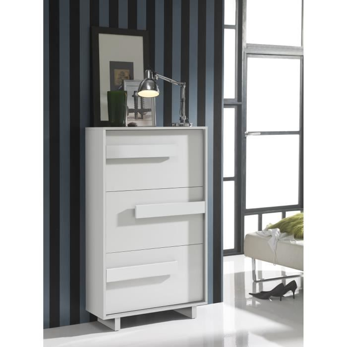meuble chaussures moderne haut 3 tiroirs bla achat. Black Bedroom Furniture Sets. Home Design Ideas