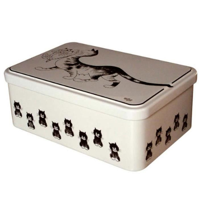 boite sucre les chats par dubout achat vente boite de rangement cdiscount. Black Bedroom Furniture Sets. Home Design Ideas