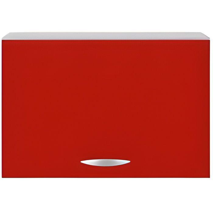 Meuble cuisine haut hotte de 60 cm oxane rouge achat - Hotte de cuisine 60 cm ...