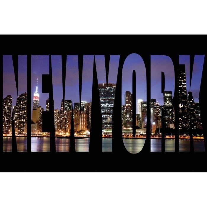 New york lettres tableau d co sur glass art 40x60cm achat vente tableau - Grand cadre new york ...