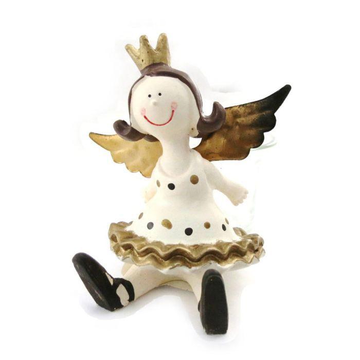 bougeoir ange princesse beige dor achat vente bougeoir bougeoir ange princesse b. Black Bedroom Furniture Sets. Home Design Ideas