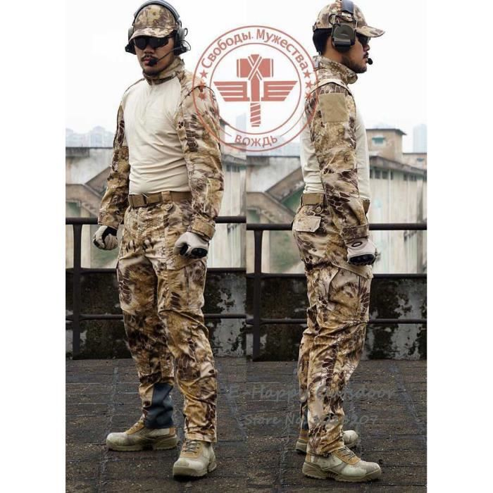 homme serpent camouflage militaire uniforme de l 39 arm e swat quipement tactique combat airsoft. Black Bedroom Furniture Sets. Home Design Ideas