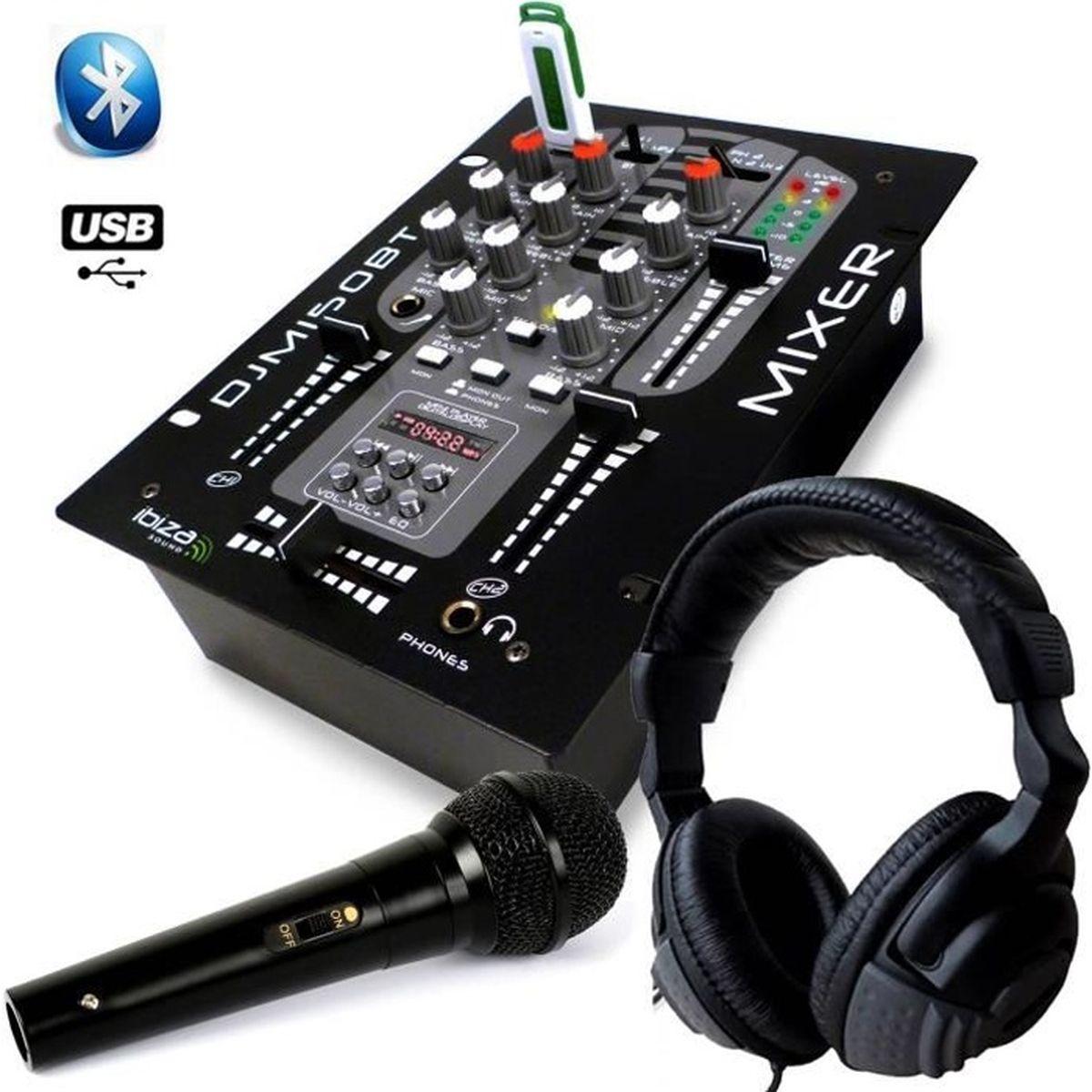 casque audio table de mixage usb bluetooth 2 voies 5 canaux djm 150 usb bt micro dynalique. Black Bedroom Furniture Sets. Home Design Ideas