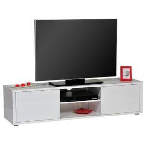 meuble tv blanc laque 160 cm achat vente meuble tv blanc laque 160 cm pas cher soldes. Black Bedroom Furniture Sets. Home Design Ideas