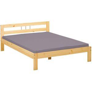 lit en pin massif 140x200 achat vente lit en pin massif 140x200 pas cher cdiscount. Black Bedroom Furniture Sets. Home Design Ideas