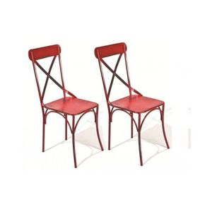prix 2 chaises bistrot rouge