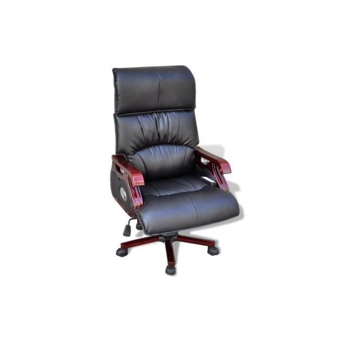 Fauteuil massant de bureau lectrique noir achat vente fauteuil noir cd - Fauteuil bureau massant ...