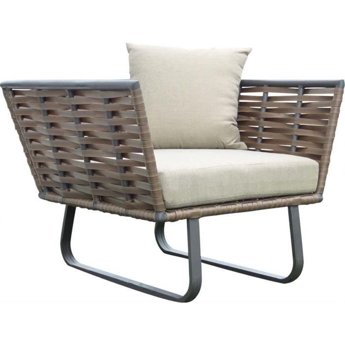 fauteuil de jardin en r sine tress e horizon beige achat. Black Bedroom Furniture Sets. Home Design Ideas