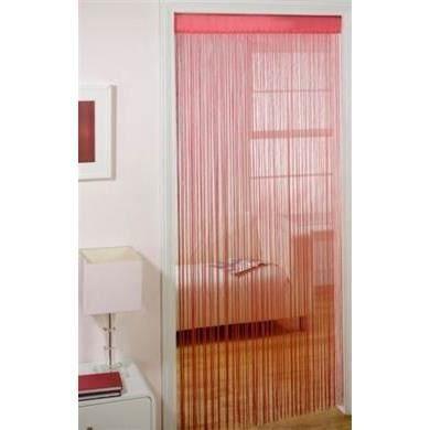 rideaux a passants majorca cerise pour garder les insectes a l 39 ext rieur achat vente. Black Bedroom Furniture Sets. Home Design Ideas