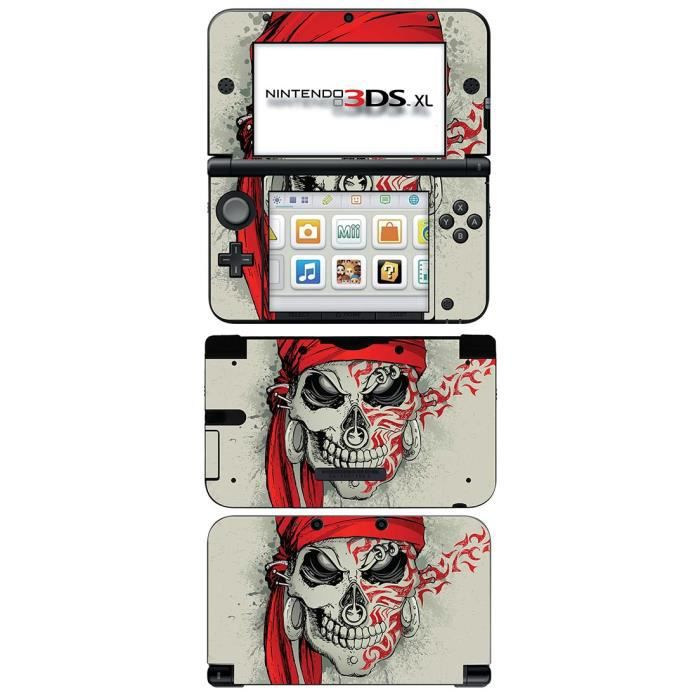 skin stickers pour nintendo 3ds xl sticker tattoo skull. Black Bedroom Furniture Sets. Home Design Ideas