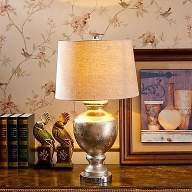 lampe de table chrom e classique tu achat vente lampe. Black Bedroom Furniture Sets. Home Design Ideas