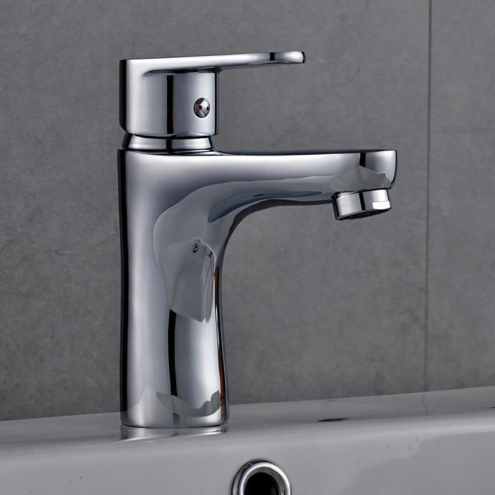 auralum mitigeur evier pour lavabo robinet mono commande avec cascade pour cuisine et salle. Black Bedroom Furniture Sets. Home Design Ideas