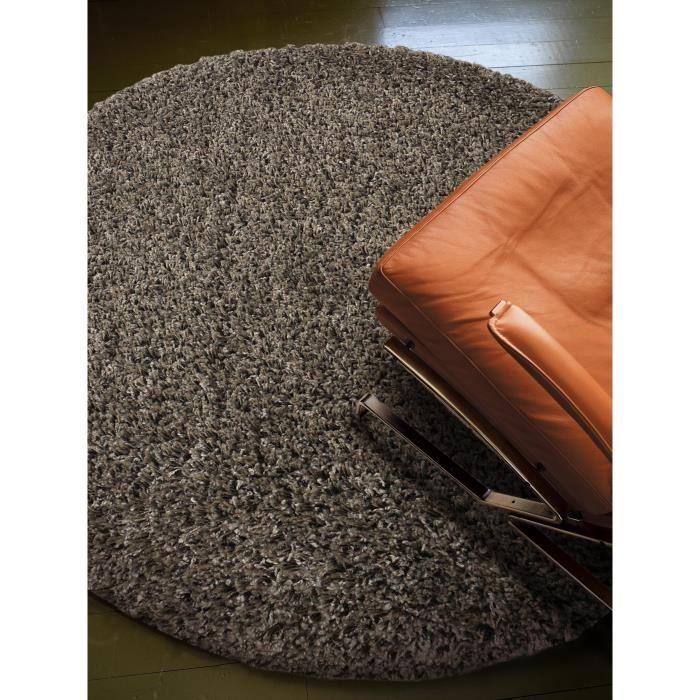 benuta tapis poils longs coco gris 200 cm rond achat vente tapis cadeaux de no l. Black Bedroom Furniture Sets. Home Design Ideas