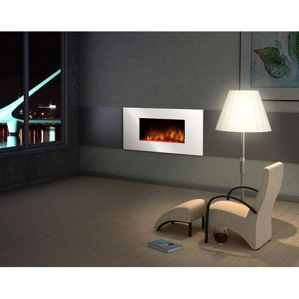 Chemin e d corative white loft achat vente chemin e - Cheminee decorative ...