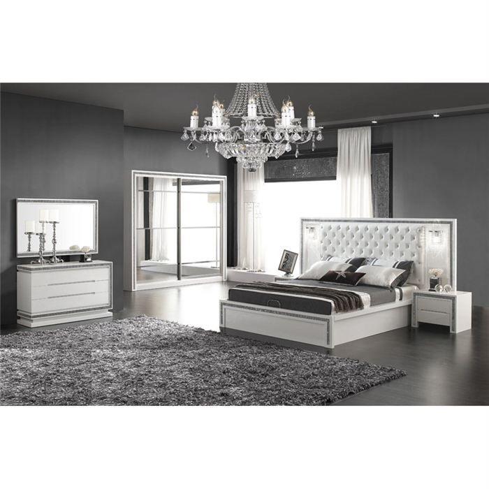 Chambre complete design luna achat vente lit complet for Chambres adultes completes design