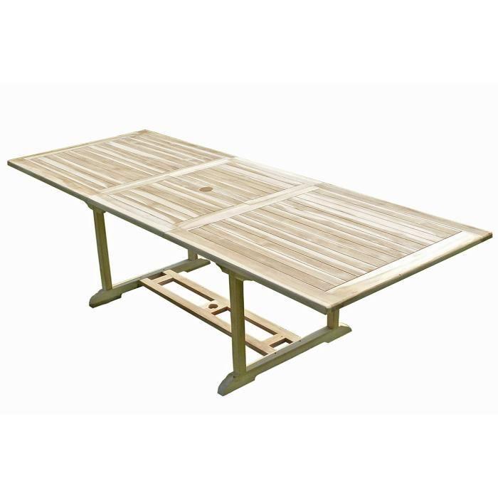 table de jardin en teck prepara 8 10 places achat vente table de jardin table de jardin en. Black Bedroom Furniture Sets. Home Design Ideas