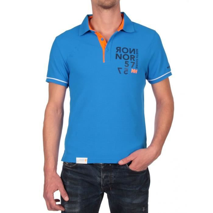 helly hansen polo homme mc hp racing bleu achat vente polo soldes cdiscount. Black Bedroom Furniture Sets. Home Design Ideas