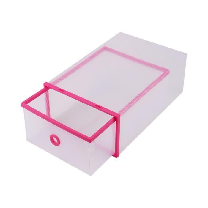 5pcs maison translucide plastique bo te de chaussures - Boite de rangement empilable ...