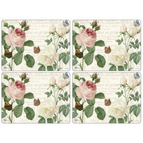 4 sets de table rigides rhs roses pimpernel achat for Set de table rose